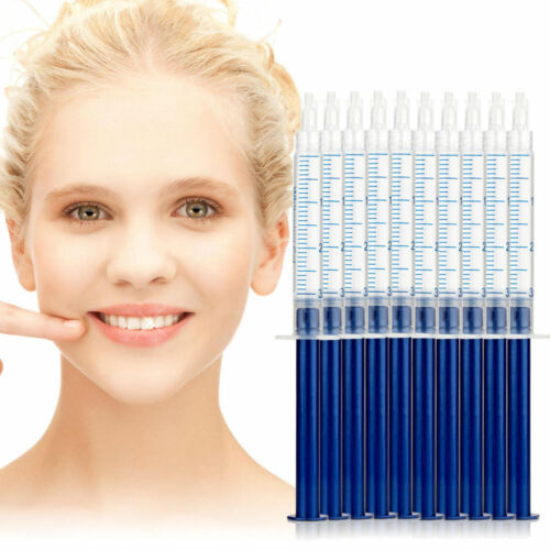 10 PCS Teeth Whitening Gel Syringes Tooth Bleaching 44% CP Dental Whitener FDA Health & Beauty