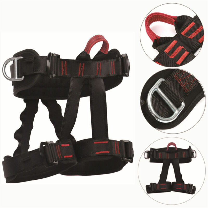 Safety Half Body Tree Rigging Rock Climbing Rappelling Harness Equipment USStock