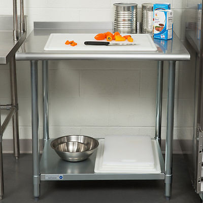 New 30 X 36 Stainless Steel Work Prep Table Undershelf Restaurant Backsplash