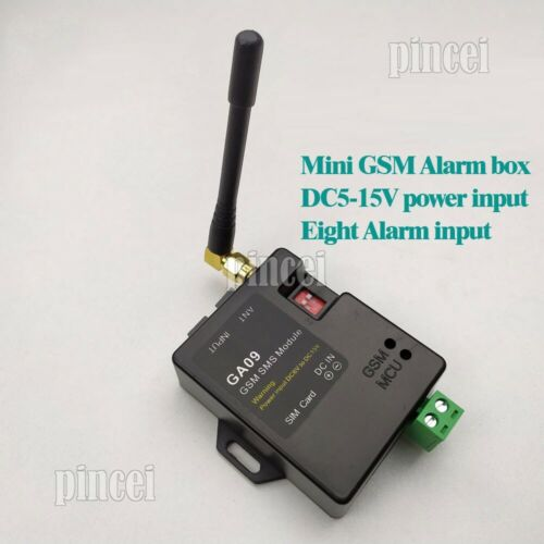 2019 GA09 GSM SMS Alarm System Wireless Module 8 Alarm Input for Home Security