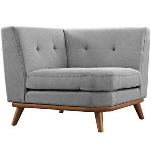 NEW Modway Engage Corner Sofa, Expectation Gray Condition: New