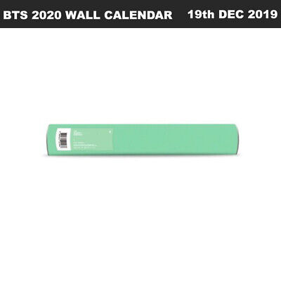 BTS 2020 WALL CALENDAR Limited Quantity Unfolded + Tracking Number