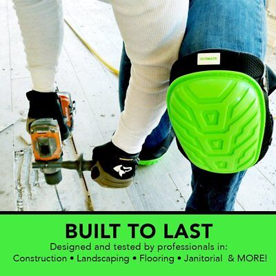 NEW! Professional Construction Knee Pads, Most Comfortable Gel Cushion Padding