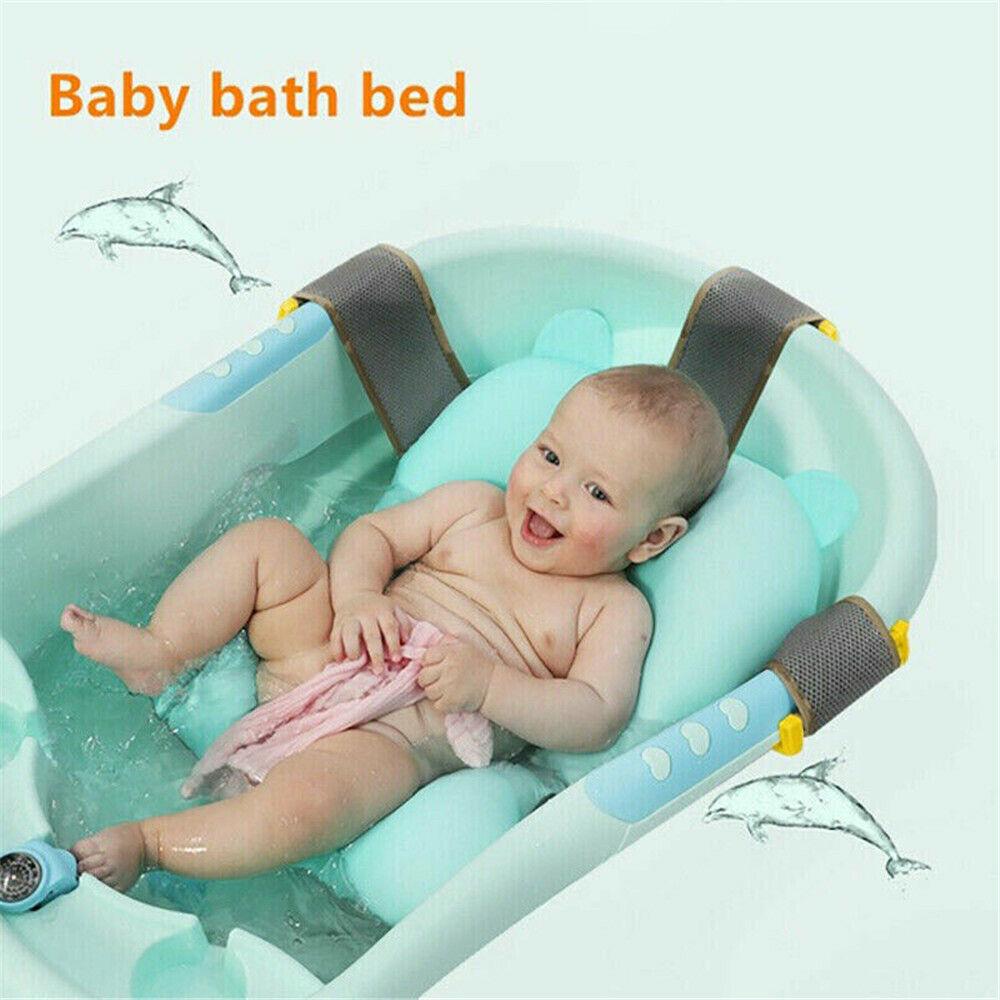 Infant Baby Kids Bath Tub Bath Seat Cushion Non-slip Bathing Mat Safety Bed