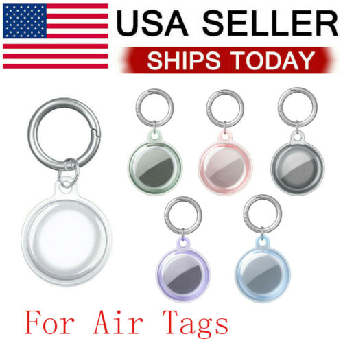 For Apple Air Tag Clear TPU Protective Cover For AirTags Case Keychain Cases, Covers & Skins