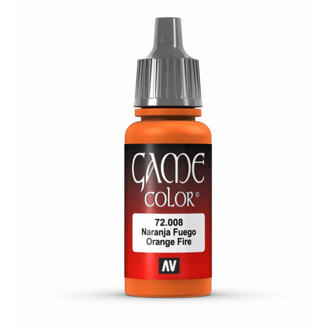 Vallejo Game Color: Orange Fire - VAL72008 Acrylic Model Paint 17mm Bottle