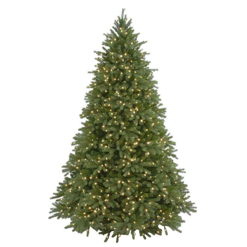 Home Accents Holiday 7.5 ft Feel Real Jersey Fraser Fir Pre-Lit Artificial