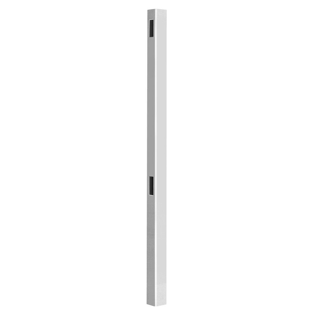 Pro Series Hudson 98 In. White Vinyl Routed Fence Line Post - $36.44