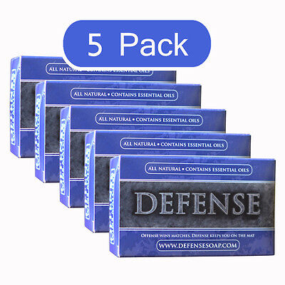 Defense Soap Bar 4 Oz (5 Pack) All Natural Tea Tree Oil MMA Wrestling Judo
