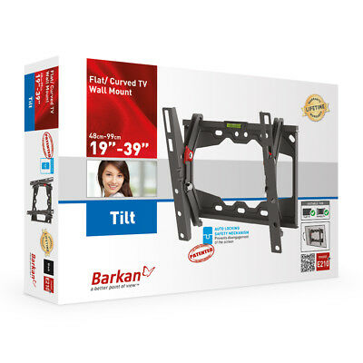 - Flat / Curved Tilt 19-39  TV Wall Mount Barkan E210+.B