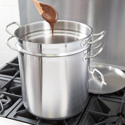 New Vigor 20 Qt 22 GA Stainless Steel Aluminum-Clad Double Boiler Professional
