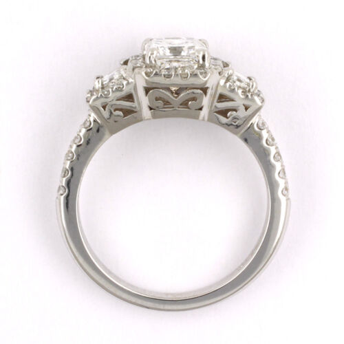 GIA Certified Radiant Cut Diamond Engagement Ring 2.26 Carat 18k White Gold 4