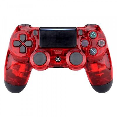Crystal Red Faceplate Front Housing Shell Cover For PS4 Slim Pro Game Controller