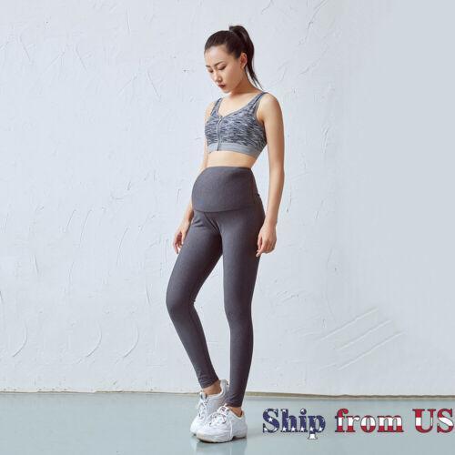 Maternity Pregnancy Waist Skinny Leggings Over The Belly Soft Pregnant Yoga Pant