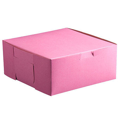 25 Pink Bakery Box 10x10x5 For Cake Pie Cupcake Cookie Candy Pastry Favor Gift