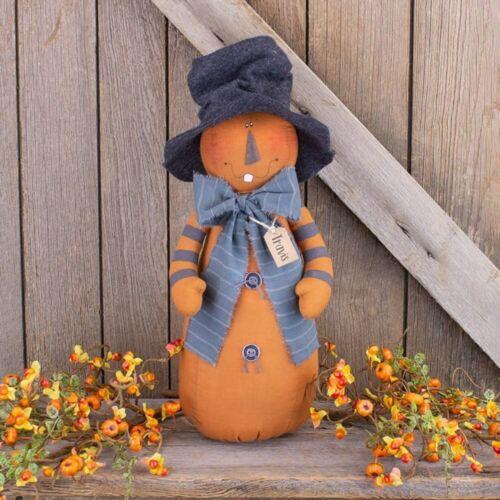 Travis Jack O Lantern Pumpkin Doll Country Farmhouse Autumn Fall Halloween Decor