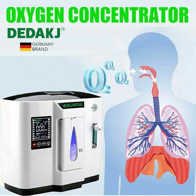 1-6L/min Portable Intelligent Home Oxygen Concentrator Generator O2 Machine 110V