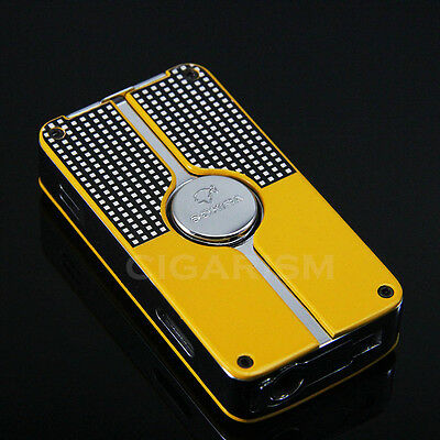 COHIBA Yellow Classic 3 Torch Jet Flame Cigar Lighter W/ Punch New Design