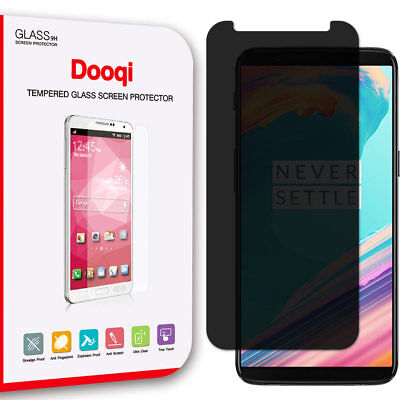 Dooqi Privacy Anti-Spy Tempered Glass Screen Protector Saver For OnePlus 5T
