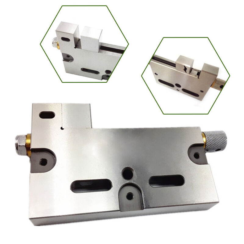 """High Precision Wire Cut EDM Vise 4"""" Jaw Opening Stainless Steel 3 Kg Clamping"""
