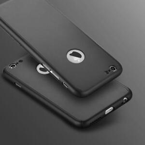Thin Hard 360 Cover + Tempered Glass | iPhone 5 5S SE 6 6S 7 8 Plus