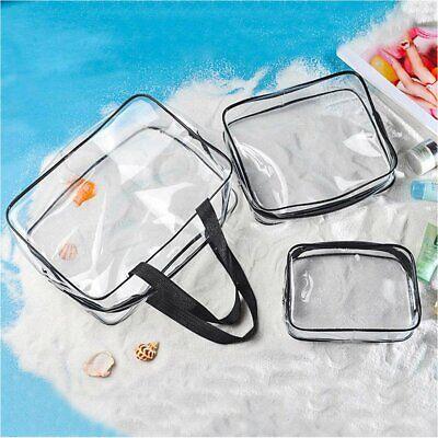 Clear Transparent Plastic PVC Travel Cosmetic Makeup Toiletry Zipper Bag Pouch Clear Zipper Bag