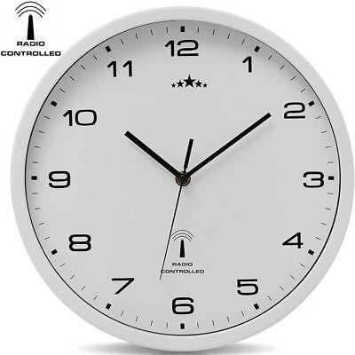 monzana® Wanduhr Funkuhr Quarz Funkwanduhr Analog Uhr 31cm Zeitumstellung Modern