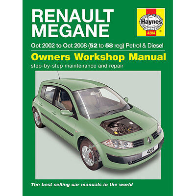 New Haynes Manual Renault Megane 02-08  Car Workshop Repair Book 4284