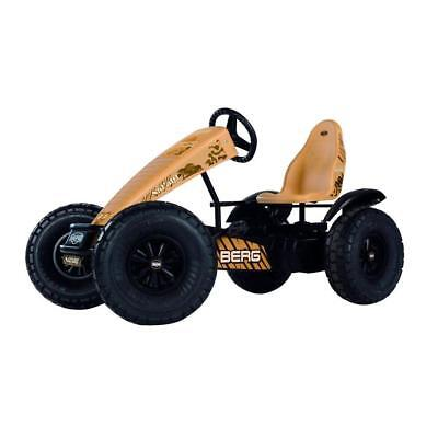 Durable Brown 63-in Frame Safari BFR Pedal Cart with Large Off-Road Tires