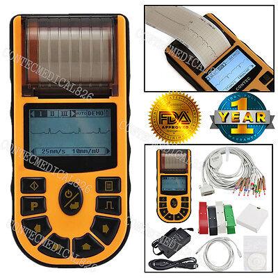 Digital 1 Channel 12 Lead Ecgekg Machine Software Electrocardiograph Us Seller
