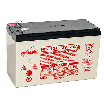 Enersys 12V 7Ah F2 Battery Replacement For Apc Be750g Back Ups Es 750Va