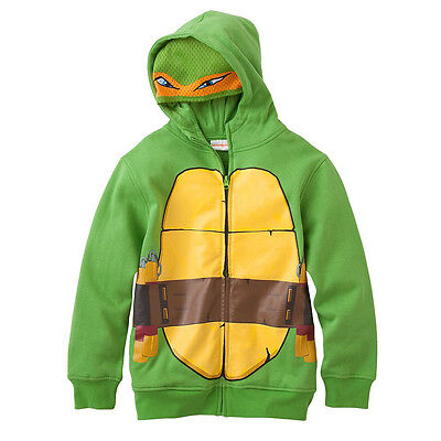 Teenage Mutant Ninja Turtles COSTUME HOODIE Boys TMNT Michelangelo HOODY - Teenage Mutant Ninja Turtle Costume Michelangelo