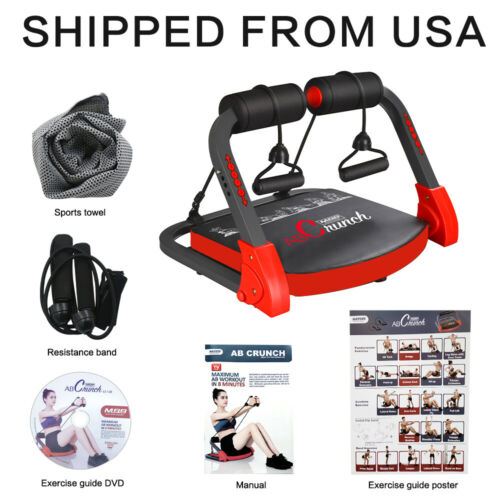 Gym Fitness Ab Tomic Crunch with Resistance Bands Exercise Guide Workout Gear