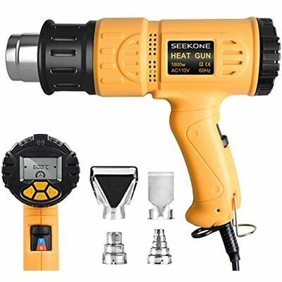 Heat Gun 1800w Hot Air Kit With Large Digital Lcd Display Variable Temperature