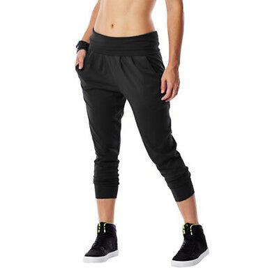 Zumba Fitness Women's Funky Cropped Harem Pants Black XS