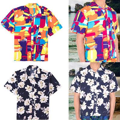 US Fashion Mens Hawaiian Short Sleeve Shirts Hawaiian Funny Beach Summer Holiday