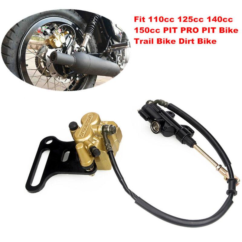 Motorcycle Bike Hydraulic Rear Disc Brake Caliper w/Master Cylinder Brake System