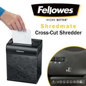 Fellowes 3403504 Shredmate Cross-Cut Shredder Condtion: Very lightly used