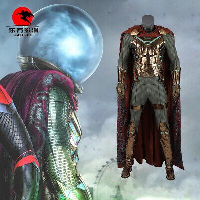 Spiderman Mysterio Costume Cosplay Far From Home Men's Superhero Only Cape](Men Superhero Costumes)