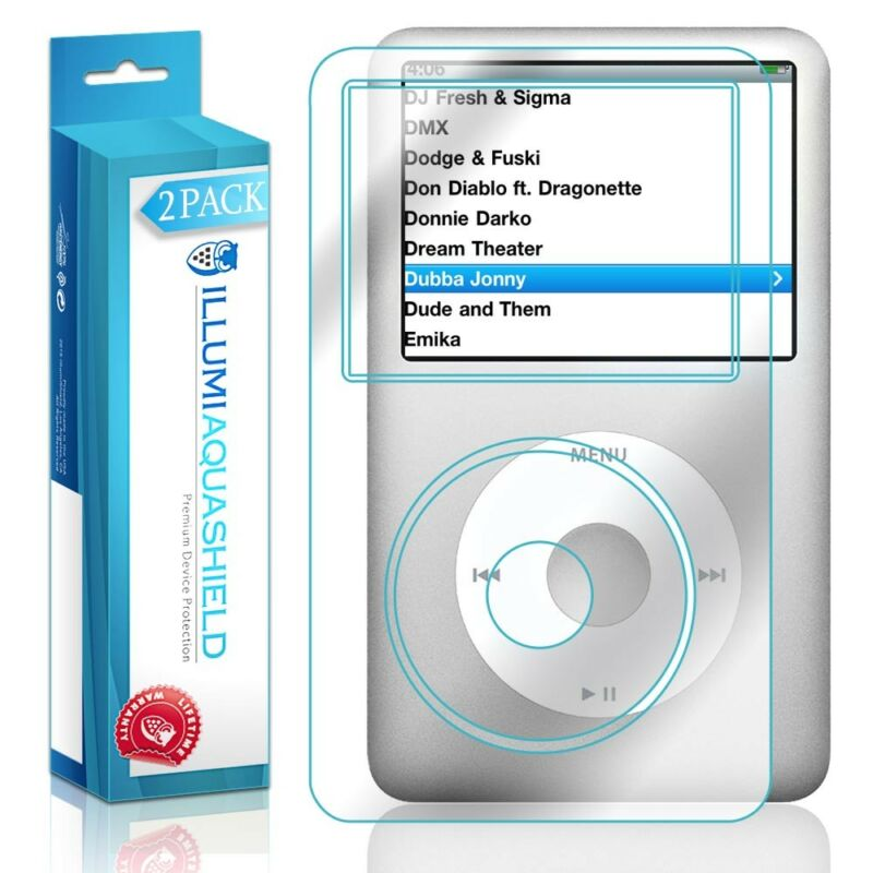 2x iLLumi AquaShield Crystal HD Screen Protector Shield for Apple iPod Classic