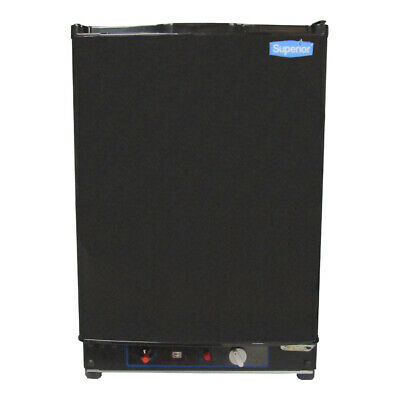 Propane Gas Refrigerator Superior 2 Cu Ft 3-Way (LP Gas, 110V AC, 12V DC) Black