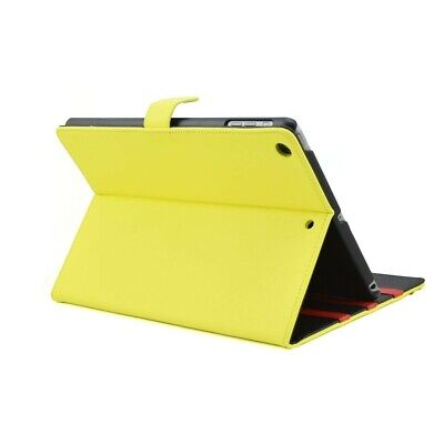 Apexel Étui portefeuille à rabat en cuir pour iPad mini Motif cuir  Jaune