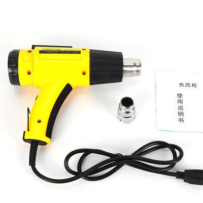 1500w Lightweight Lcd Digital Hot Air Heat Gun Temperature Adjustable Nozzle