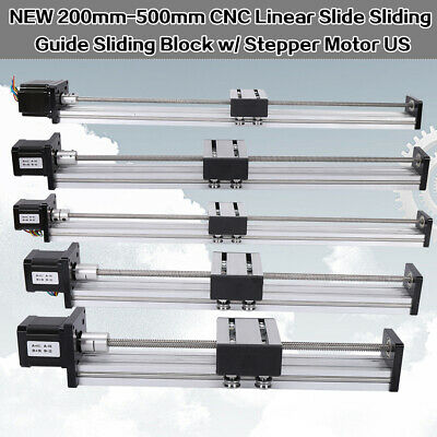 Cnc Linear Rail Guide Slide Stage Actuator Ball Screw Motion Table 4257 Stepper