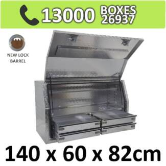 Aluminium Toolbox Side with Built in 4 Drawers Ute 1468FD-4