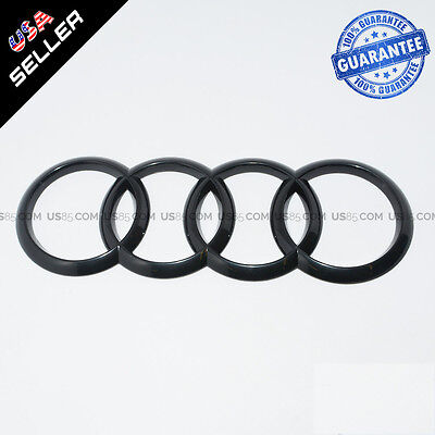 AUDI Gloss Black Back Trunk Rings Badge Emblem Decoration Modified 8T0853742D2ZZ