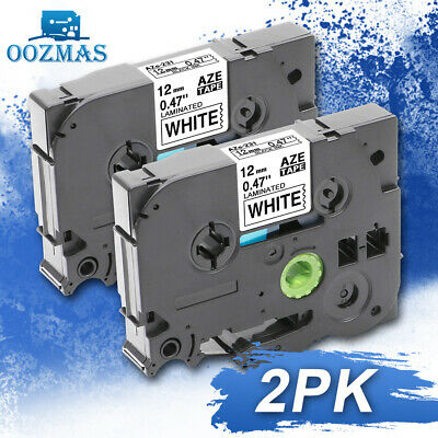 2pk Tz-231 Tze-231 Compatible Brother P-touch Label Maker Tape 12mm For Pt-d210