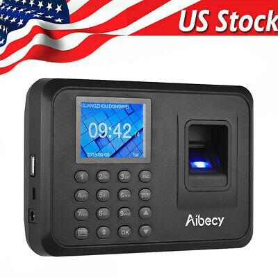 Biometric 2.4lcd Attendance Machine Fingerprint Password Time Clock Reader S8n3