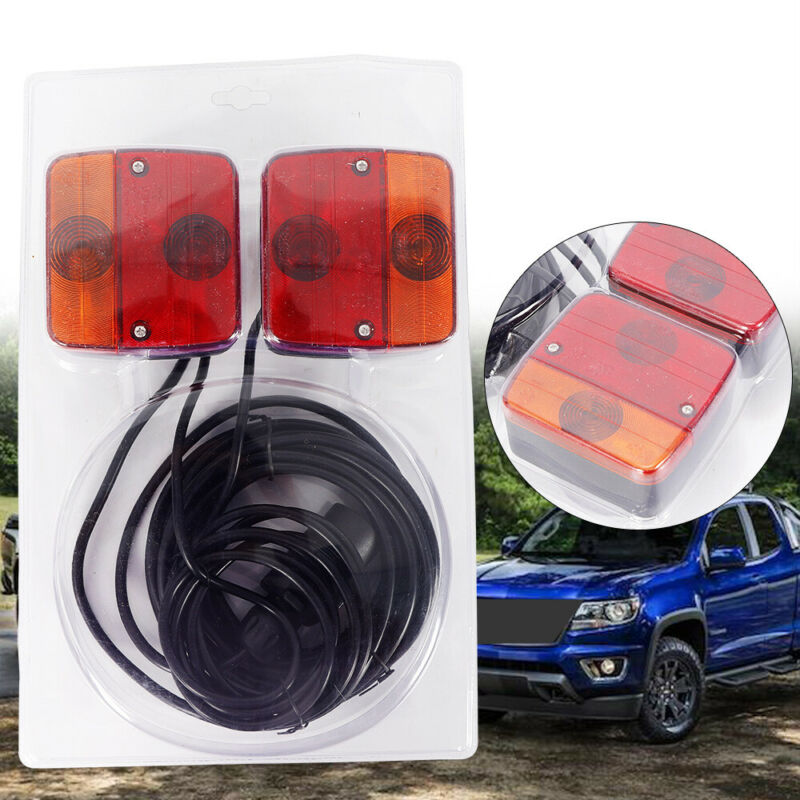 Trailer or Caravan Lighting Board / Car Recovery Lights 7.5m Cable New USA