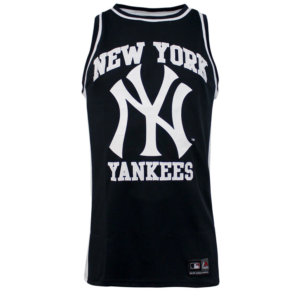 6bc00ac8 Details about Majestic New York Yankees Navy Blue Rinco Mesh Singlet  Sleeveless Vest Top R10K